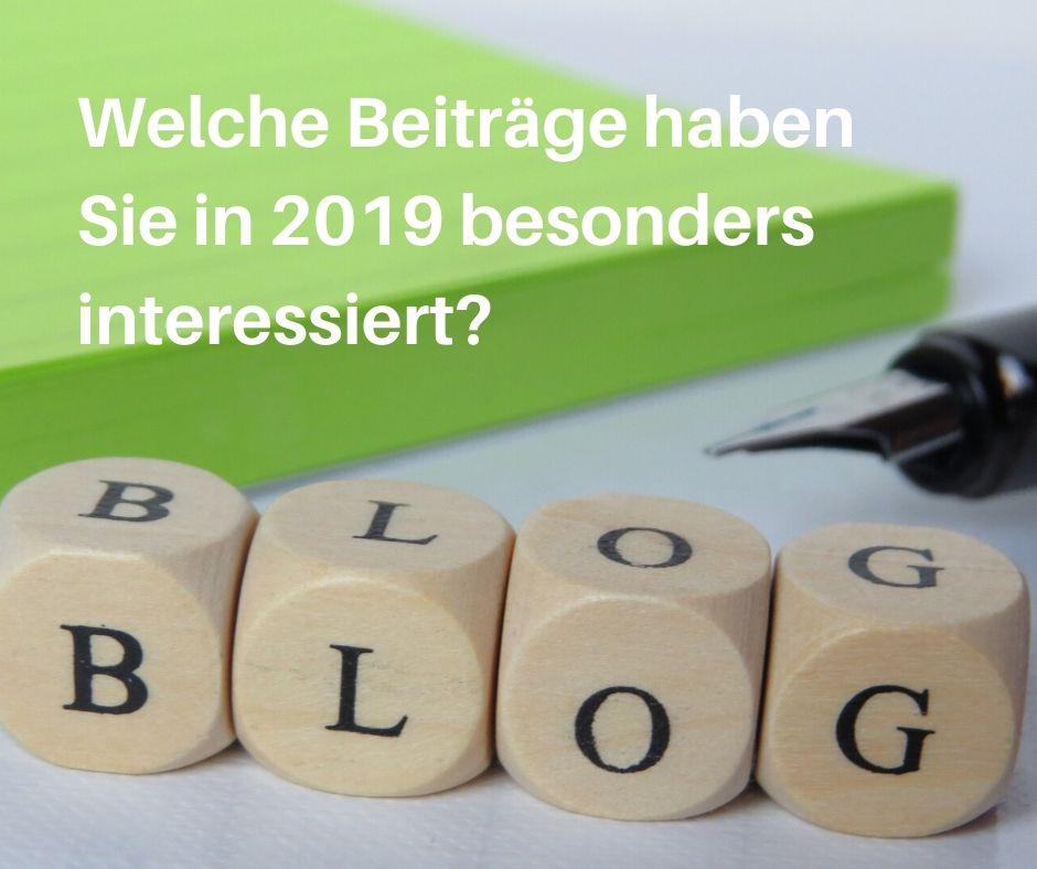 Die beliebtesten Blogbeiträge2019